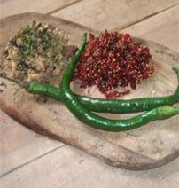 Seaweed, spicy beetroot and sesame salad
