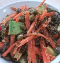 Carrot and seaweed salad