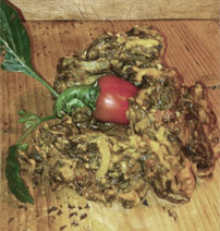 Seaweed bhajis