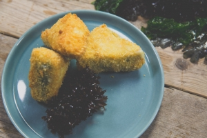 Crunchy Camembert Wedges with Kelp